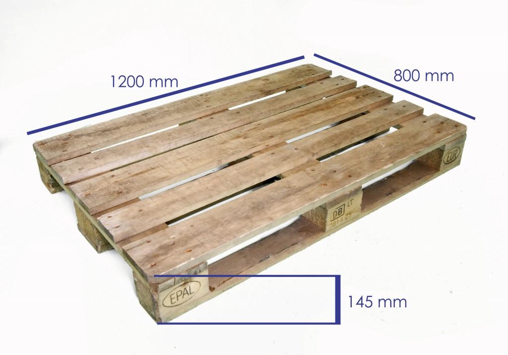 Alquiler de europalet homologado reciclado 1 palets y for Medidas de palets de madera