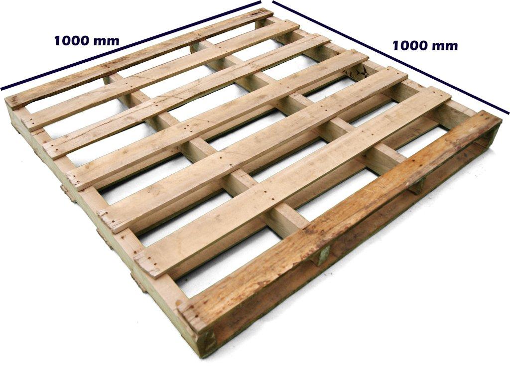 Palet 100 x 100 dos entradas reversible reciclado palets for Espuma a medida para palets