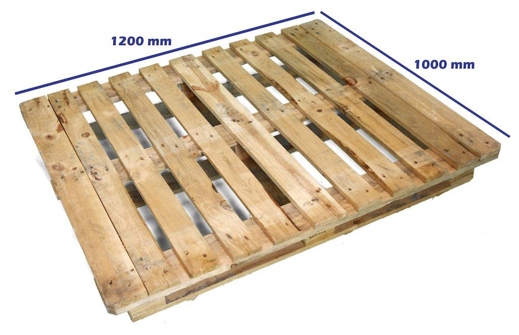 Alquiler de palet cp6 120 x 100 reciclado palets y for Medidas de palets de madera